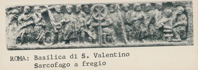 Image from object titled Roma, Basilica di S. Valentino: Sarcofago a fregio