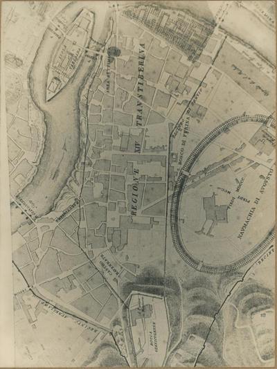Image from object titled La localizzazione dei Castra Ravennatium nella pianta del Canna (1850)