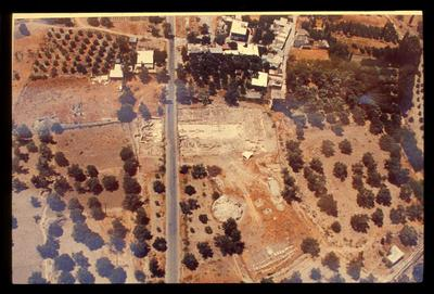 Image from object titled Crete, Gortys, Basilica of Mitropolis, aerial photo of the area of the Basilica