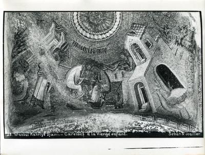 Image from object titled 28. Constantinople, Église Saint-Saveur-in-Chora (Istanbul, Kariye Camii) - Caresses à la Vierge enfant - Sebah & Joaillier