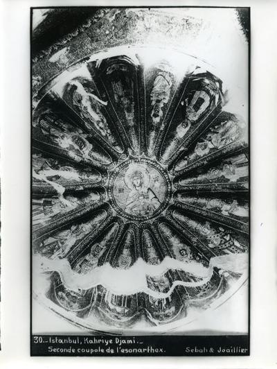 Image from object titled 30. Constantinople, Église Saint-Saveur-in-Chora (Istanbul, Kariye Camii) - Seconde coupole de l'esonarthex - Sebah & Joaillier