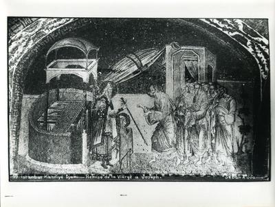 Image from object titled 19. Constantinople, Église Saint-Saveur-in-Chora (Istanbul, Kariye Camii) - Remise de la Vierge à Joseph - Sebah & Joaillier