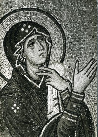 Image from object titled Mosaic in the Church of Daphni - 11th century