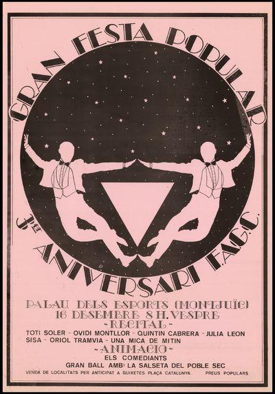 Image from object titled Gran festa popular 3er. aniversari del FAGC ... /