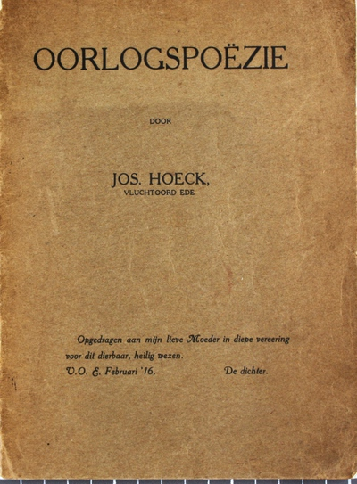 Image from object titled Oorlogspoëzie