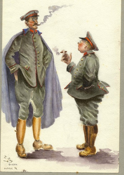 Image from object titled Elisabeth Rouy, dite Tante Beth_ Aquarelles- caricatures des occupants allemands en 14/18