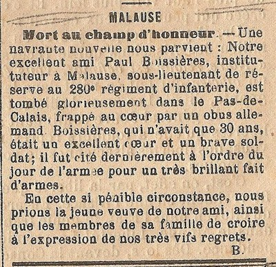 Image from object titled Annonce décès de Paul