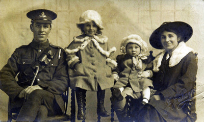 Image from object titled A British soldier's family of four photographed in Hull