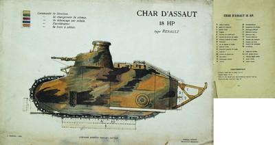 Image from object titled Maquette du char d'assaut Renault 18 HP.
