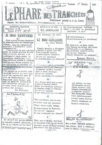 Image from object titled Journal de tranchées d'un soldat français