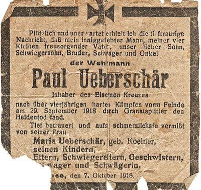 "Image from object titled Paul Ueberschär, ""Wehrmann"", Hamburg-Blankenese, Feldpostkarten & Notizbuch"
