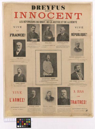 Image from object titled Dreyfus est innocent : les défenseurs du droit, de la justice et de la vérité...