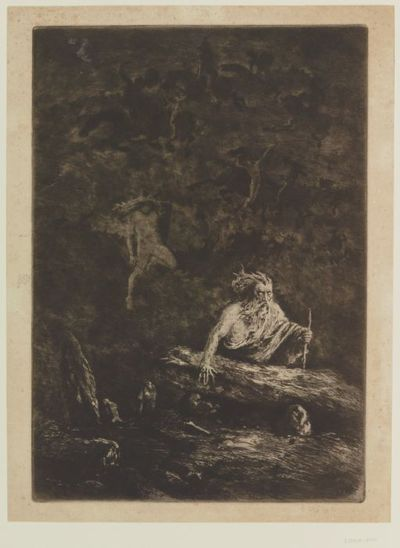 Image from object titled [Le clavier d'Ossian (grand format)] : [estampe] / E. Viala