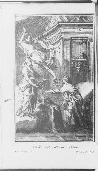 Image from object titled [Illustrations de L'Iliade. Poème avec un discours sur Homère] / Fr. Roettiers, dess. ; N. Edelinck, grav. ; Homère, aut. du texte