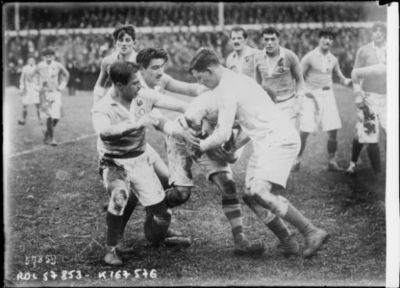 Image from object titled 31-1-20, rugby, match France-Angleterre [à Twickenham] : [photographie de presse] / [Agence Rol]