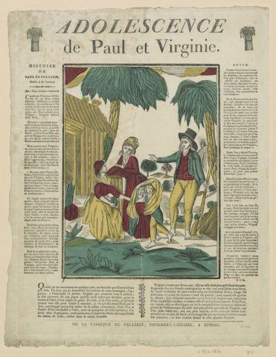 Image from object titled Adolescence de Paul et Virginie : [estampe]