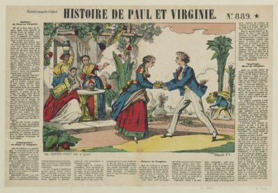 Image from object titled Histoire de Paul et Virginie. N° 889 : [estampe]