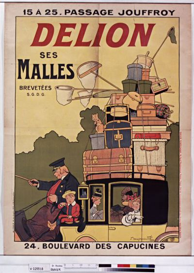 Image from object titled Delion. Ses malles : [affiche] / [Benjamin Rabier]