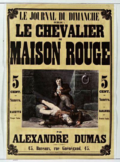 Image from object titled Le Journal du Dimanche publie Le Chevalier de Maison Rouge par Alexandre Dumas : [affiche] / Woeff