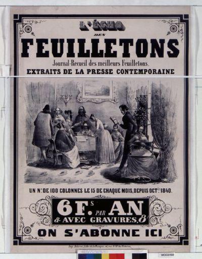 Image from object titled L'Echo des feuilletons : journal recueil des meilleurs feuilletons extraits de la presse contemporaine... : [affiche] / [non identifié]