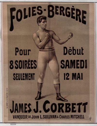Image from object titled Folies-Bergère... James J. Corbett... : [affiche] / [non identifié]