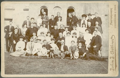 Image from object titled Group photograph outside an Irish College.