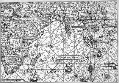 Image from object titled Diego Ribero's map of the world, 1529.