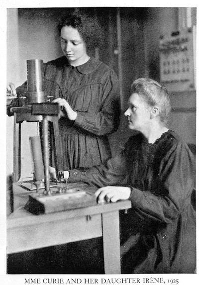Image from object titled Portrait of Marie Curie and her daughter Irene
