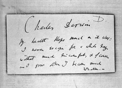 Image from object titled Note, by Darwin