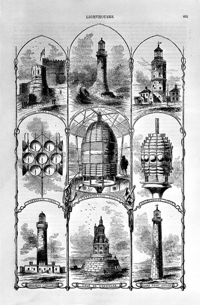 Image from object titled Lighthouses: various types.