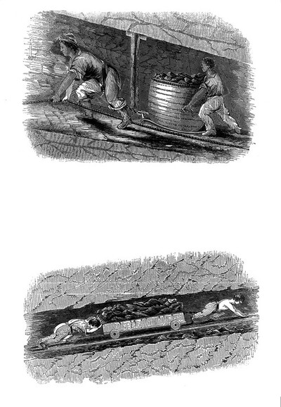Image from object titled Children working in mines, 1843
