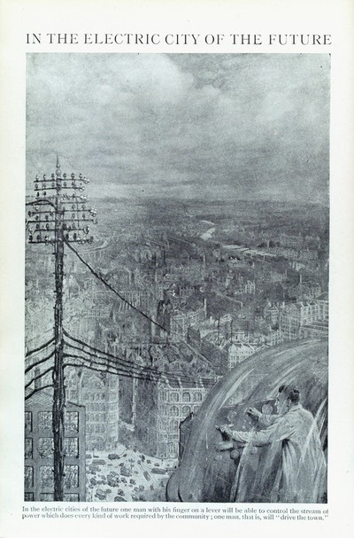 Image from object titled In the electric city of the future