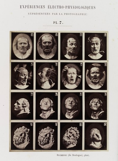 Image from object titled Experiments in physiology. Facial expressions