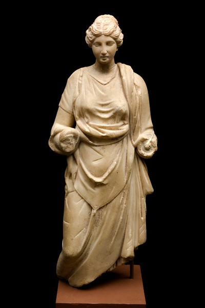 Image from object titled Statue of the goddess Hygeia, Roman, 100 BCE - 100 CE
