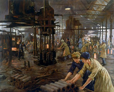 'The Munitions Girls' oil painting, England, 1918 | Science Museum, London