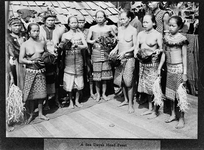 Image from object titled A Sea Dayak feast