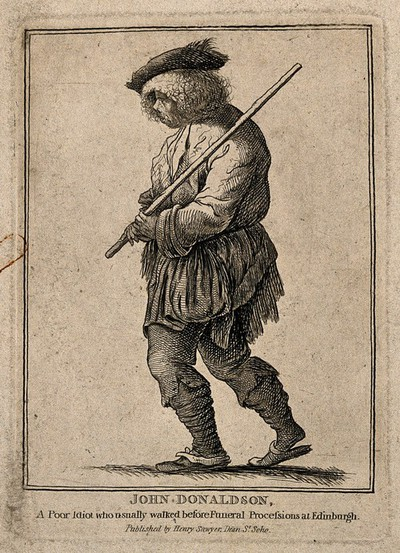 Image from object titled John Donaldson, a simpleton. Etching.