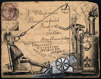 Image from object titled A scientist using a steam machine with pulley to extract a t