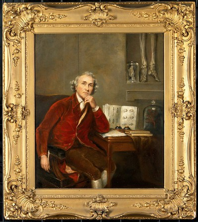 Image from object titled John Hunter (1728-1793), surgeon and anatomist. Oil painting after Sir Joshua Reynolds.