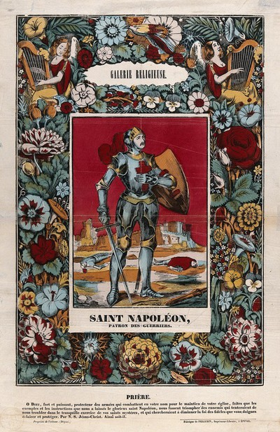 Image from object titled Saint Napoleon. Coloured lithograph.