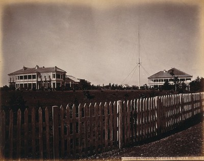 Image from object titled Yokohama, Japan: the British Consulate buildings and grounds. Photograph.