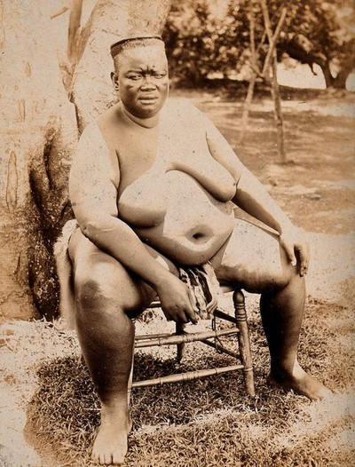 Image from object titled An African woman. Albumen print.