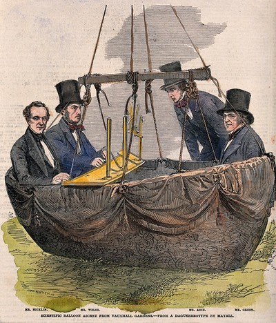 Image from object titled Scientific balloon ascent from Vauxhall Gardens. from a