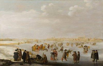 IJsvermaak op de IJssel bij Kampen
