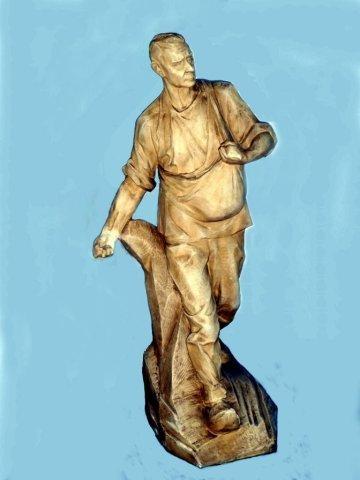 """Prototype van het beeld: """"De Zaaier"""" van Aug. Falise, 1926"""
