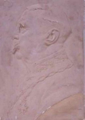 Portret van burgemeester Hesselink van Suchtelen bij zijn 25 jarig ambtsjubileum in 1917