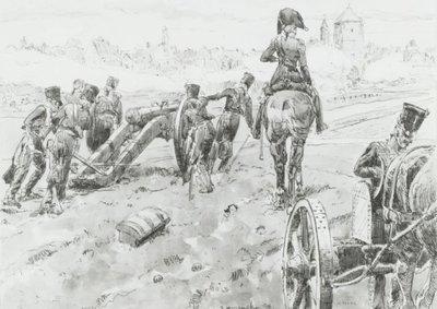 Hollandse Gele Rijders brengen een kanon in stelling tijdens het beleg van Stralsund.