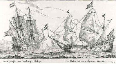 Fregat 'Vrijheid' (1651-1676) van de admiraliteit te Amsterdam