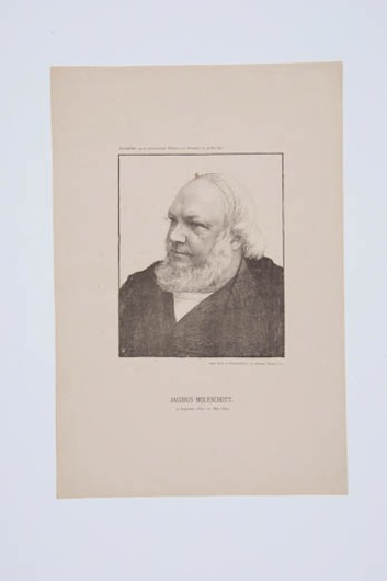 Image from object titled Portret Jacobus Moleschott