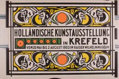 Affiche Holländische Kunstausstellung in Krefeld